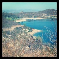 Lake Poway   1st hike post Op
