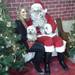 Santa Claus with my pups!