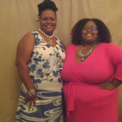 My aunt and I, April 1 2012