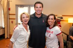 Tim Salmon poses with our own Ellen Bell and RallyMonkeyMom Jenelyn Russo