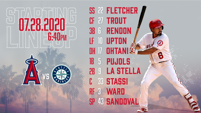 Gameday Thread: Mariners @ Angels (7/28/20): Angels 2020 Home Opener + Rendon's debut