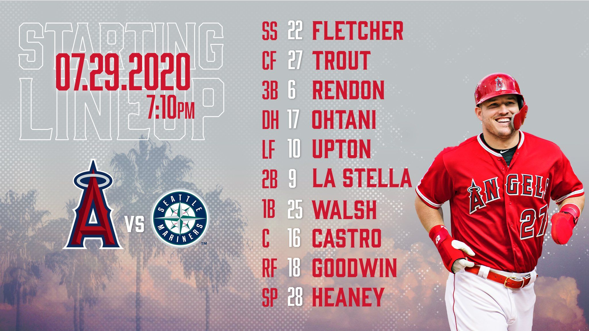 Gameday Thread: Mariners @ Angels (7/29/20)