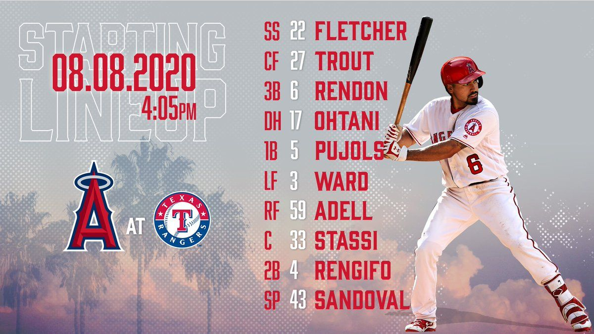 Gameday Thread: Angels vs. Rangers (8/8/2020)