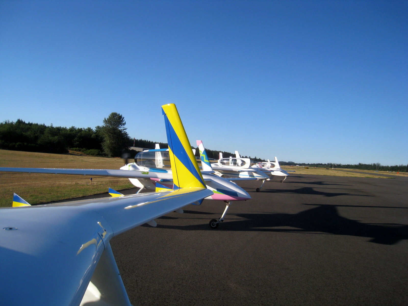 Stag Flight Of 5 Long EZ's ready To Go Bremerton 140710A