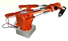 Robotic Illustrating Linear Bearing and Roller Screws