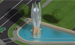 Fountain design for Florida Hospital #2