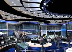A 18,000 square foot set for a leading cable financal news company.