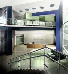Interior perspective of the Broadvision lobby