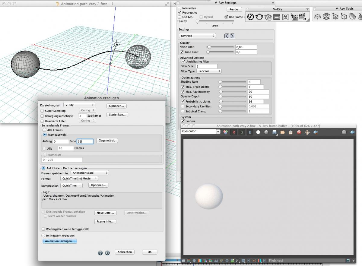 Render animation in vray? - V-Ray | form•Z - AutoDesSys Forums