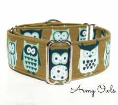 Army Owls Martingale Collar