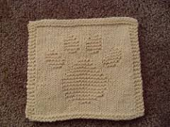 Paw print dishcloth