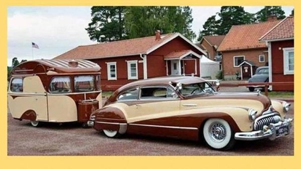1947 Custom Buick Sedanet with Matching Trailer