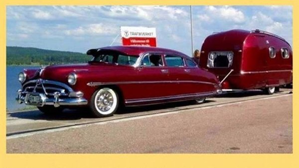 1951 Hudson Commodore with matching Trailer