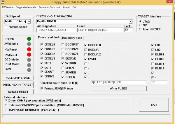 Papilio DUO – Program Arduino Bootloader using HappyJTAG2
