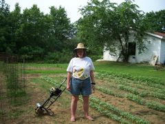 Me working in the garden.