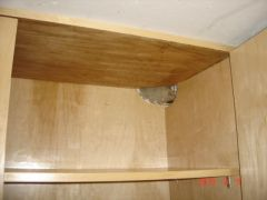 Hidden Pipes in Cabinet