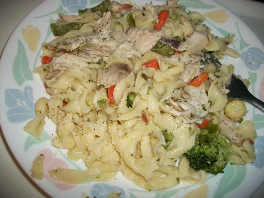 101_1037 Noodles-Seasoned Oriental Veggies and chicken dusted with parm.jpg