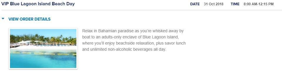Vip Blue Lagoon Island Beach Day Rccl Bahamas Cruise