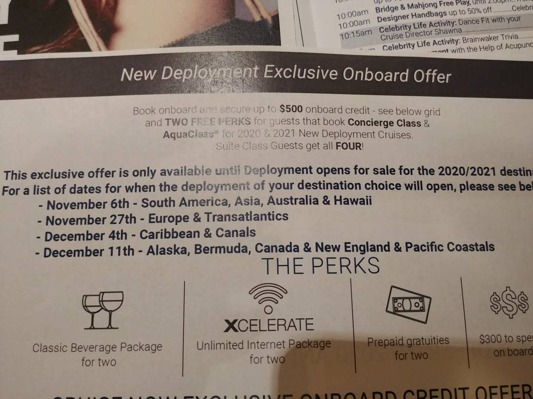 2020 2021 Cruise Rollout Schedule Celebrity Cruises Cruise