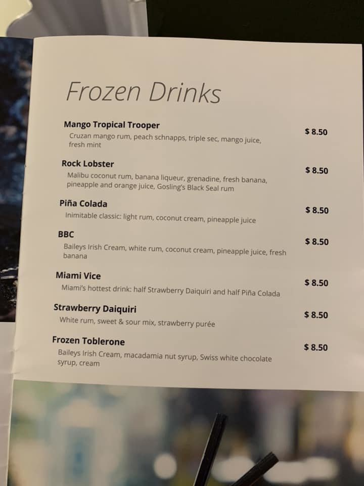 Bar drink price increase and Classic Beverage Package - MSC