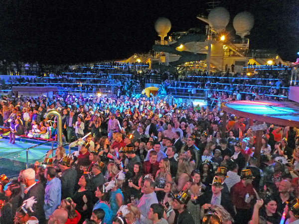 NYE 2017 on Carnival Valor