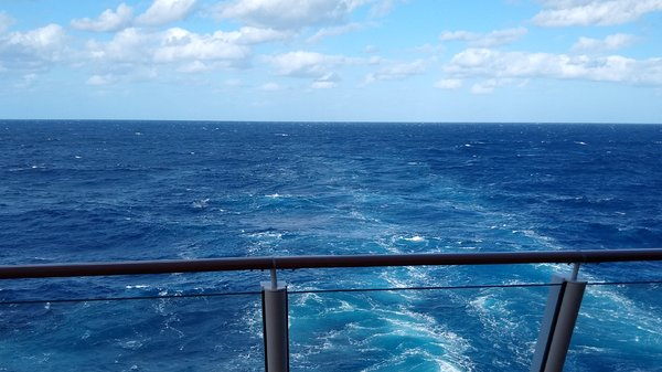 The AFT view on the Escape ... in the north Atlantic