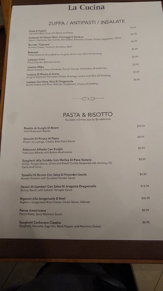 2018 Specialty Dining - La Cucina 1 of 2