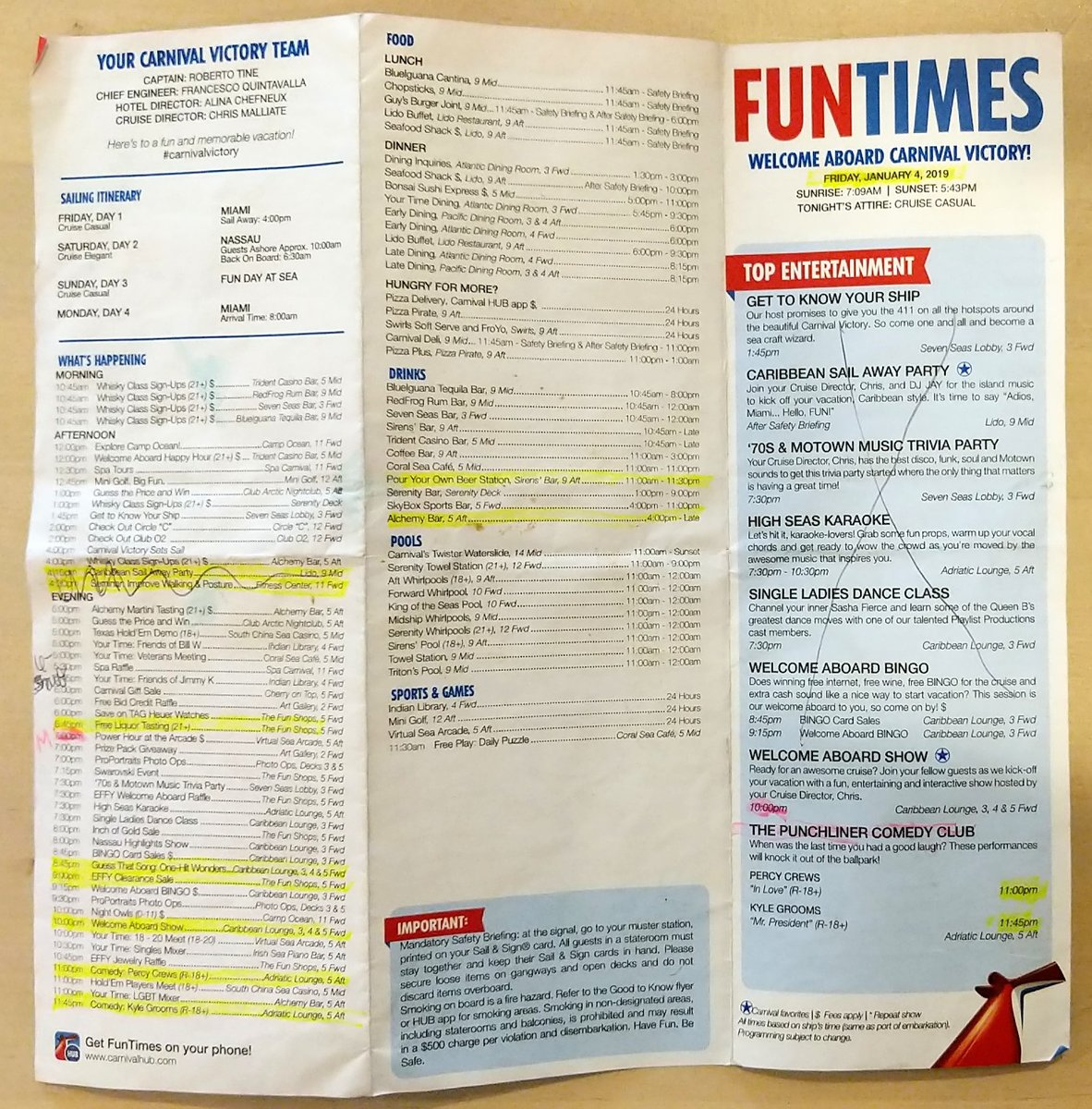 Carnival Victory Fun Times All In A Day S Play Itinerary Jan 4 7 2019 Carnival Cruise Lines Cruise Critic Community