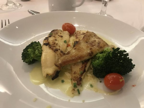 Main Course - Pan Seared Fillet of Sole