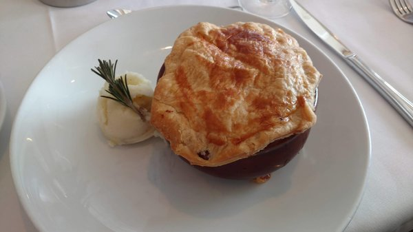 Lunch Main Course - Steak, Kidney and Mushroom Pie