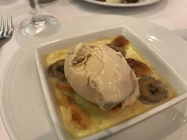 Dessert - Warm Banana Bread Pudding