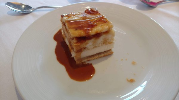 Lunch Dessert - Caramelized Banana Mille-Feuille