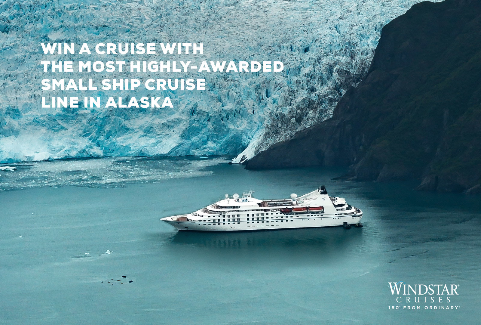 Win an unforgettable Alaska cruise aboard Windstar's Star Legend!