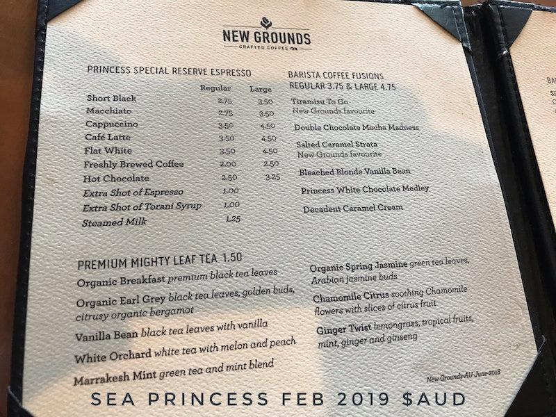 Princess Cruise Drink Menu 2020.On Board Drinks Prices Revealed Princess Cruises Cruise