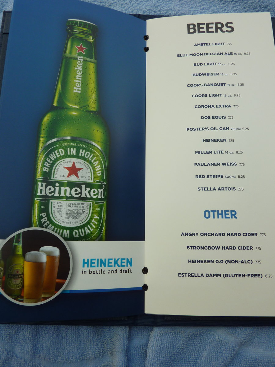 drink menu and prices - Royal Caribbean International - Cruise