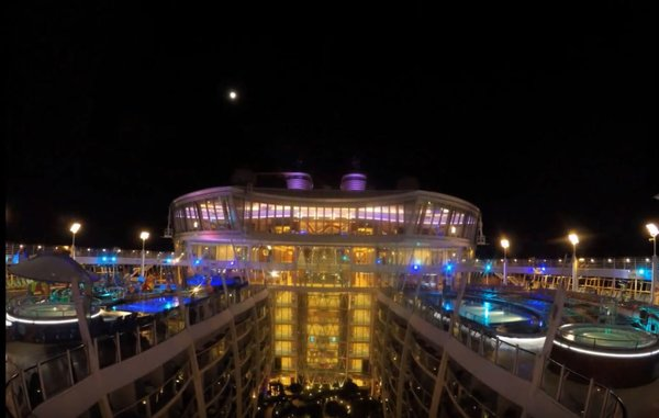 Oasis Pool Deck At Night