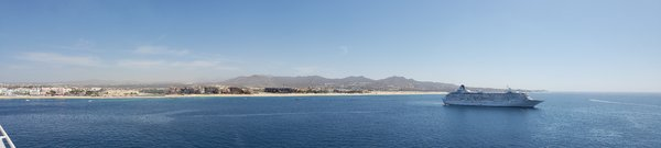 Panoramic of the Carnival Splendor in Cabo