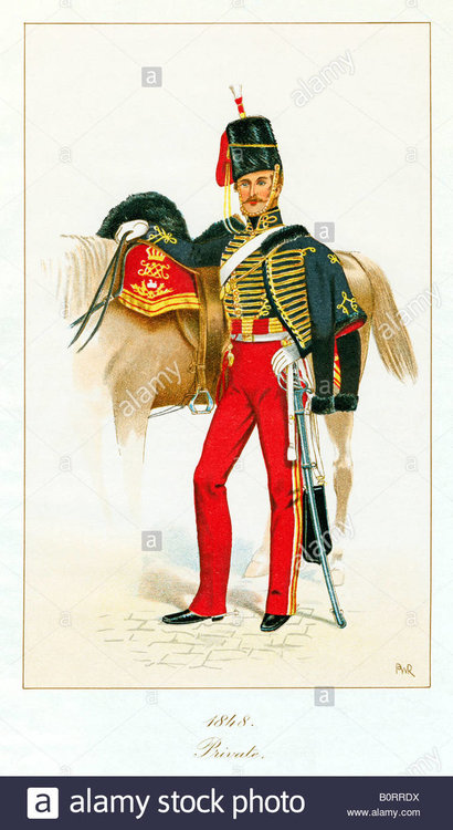 private-11th-hussars-1848-print-of-prince-alberts-own-who-rode-in-B0RRDX.jpg