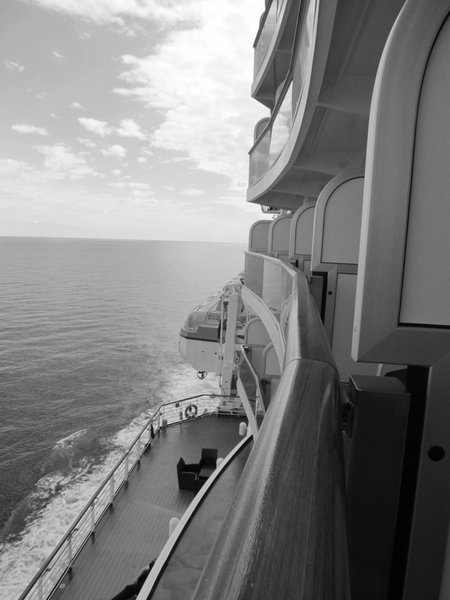 Regal Princess - view from balcony cabin