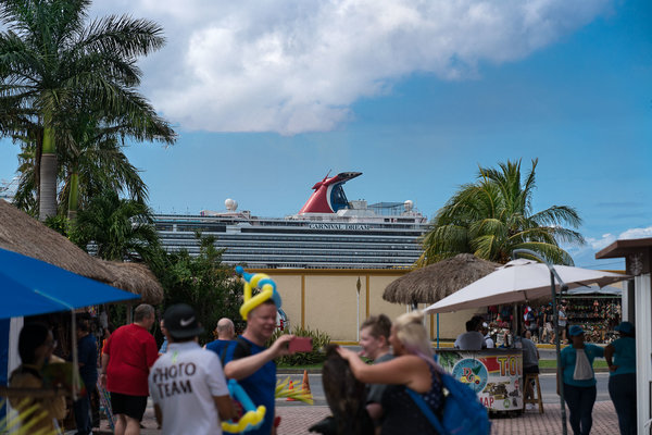 Carnival Dream, from street mall, Cozumel