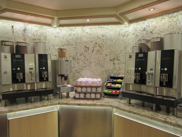 Regal Princess - Coffee, Tea, Hot Chocolate Station