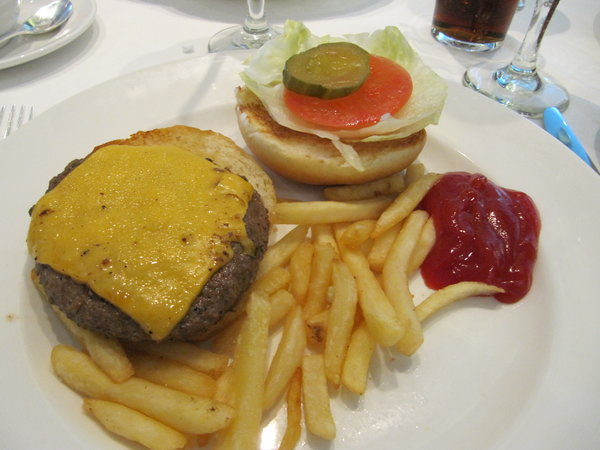 Cheeseburger & Fries -- Regal Princess