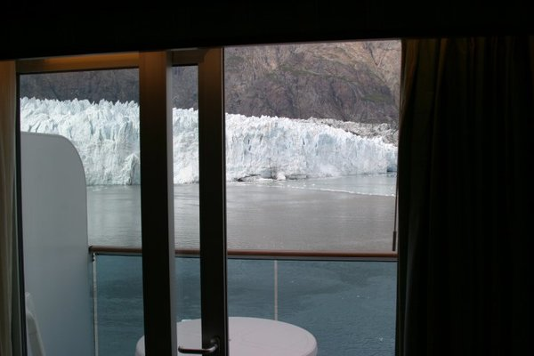 View of Glacier from cabin