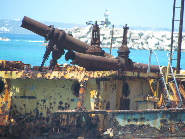 Close up of Shipwreck - St. Martin