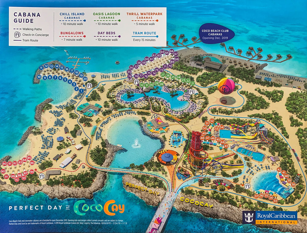 Cococay Perfect Day Cabana Guide August 2019 Royal