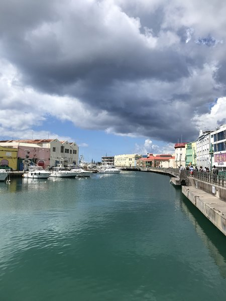 Bridgetown Barbados walk from ship to carlisle bay