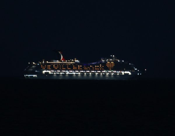 Carnival Liberty anchored off Cocoa Beach, FL