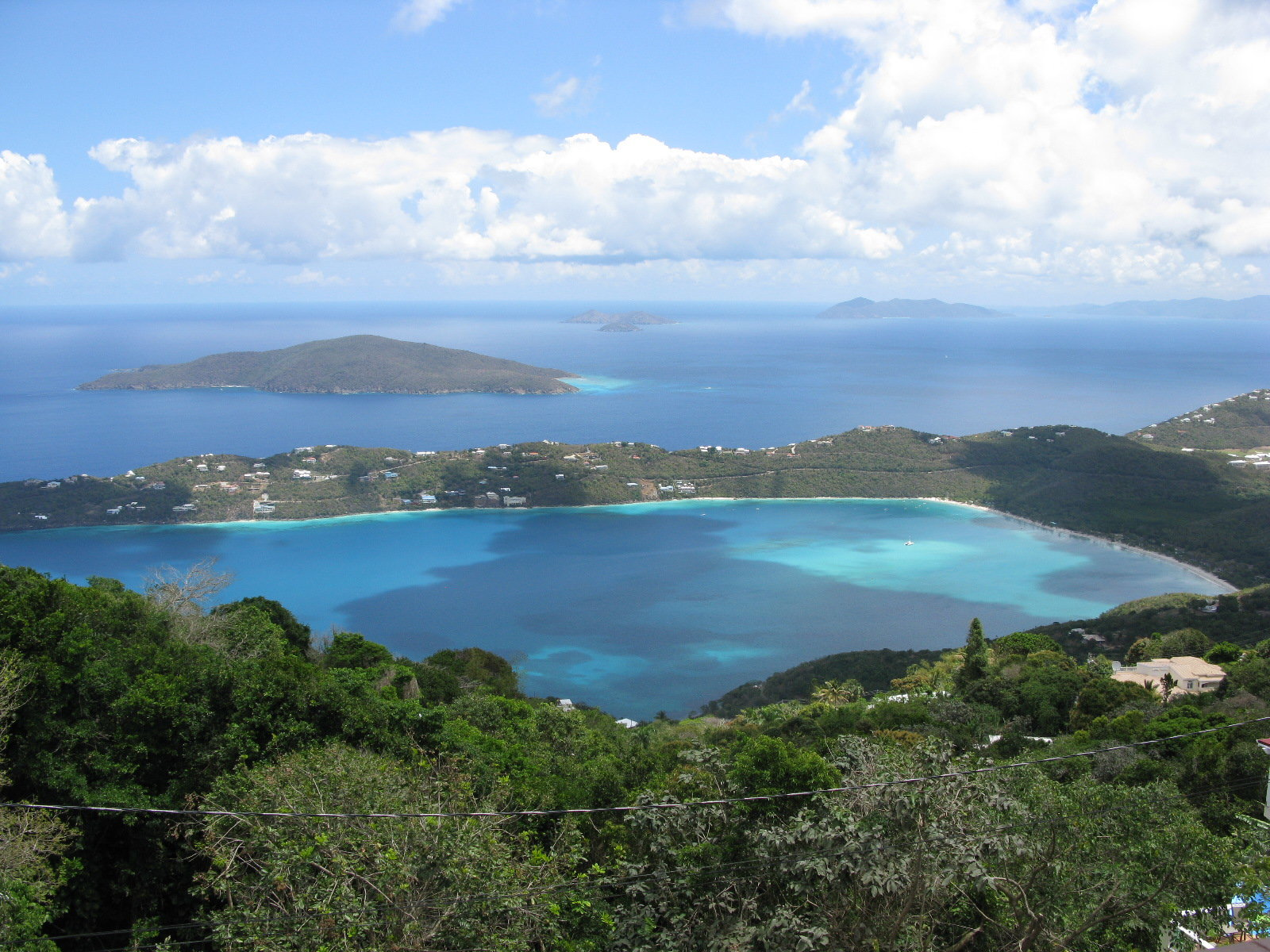 Magen's Bay from Mountaintop