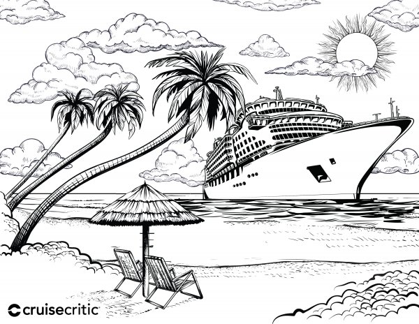 Blank Cruise Critic Coloring Page