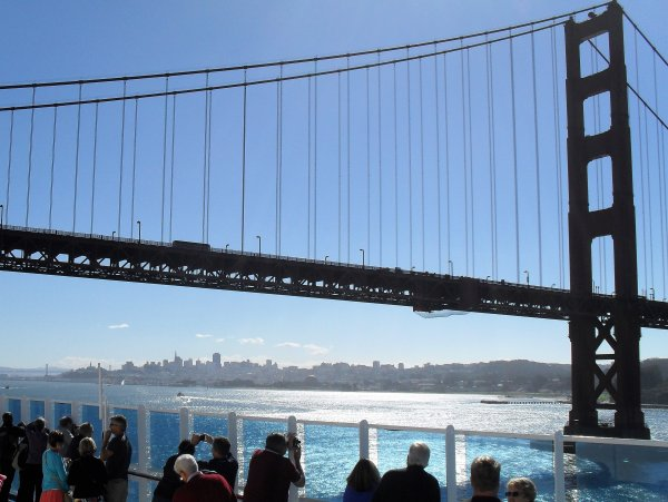 Sailing under the Golden Gate Bridge - Island Princess - 2013